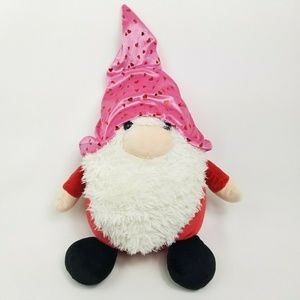 """The Gnomlins 21"""" LG Pink Hat With Red Hearts Gnome"""